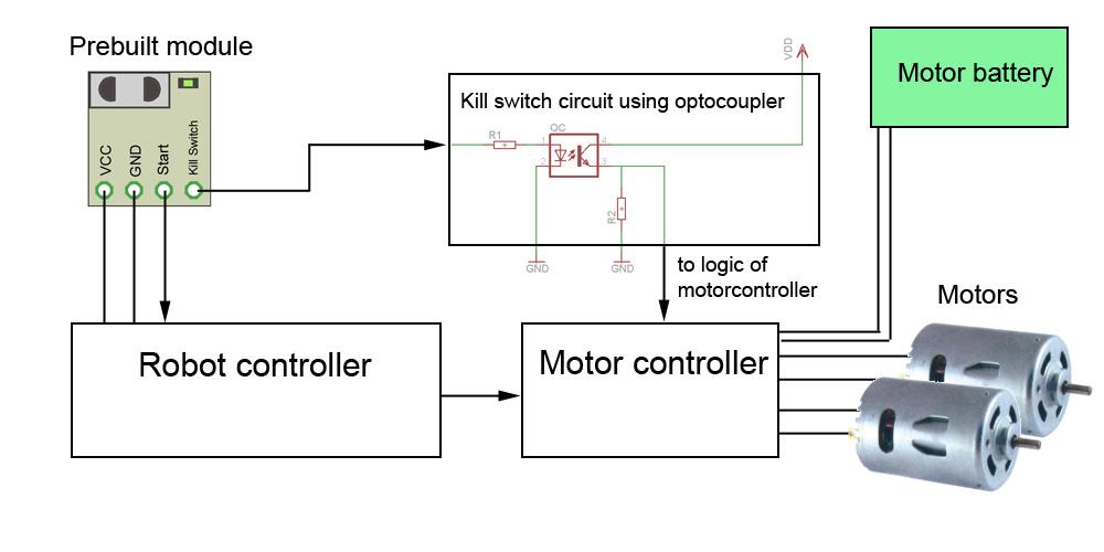 kill switch optocoupler robot start module 5-way switch wiring diagram kill switch optocoupler